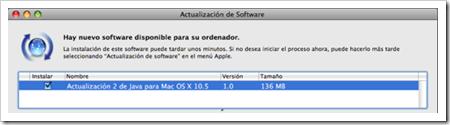 Apple lanza actualizaciones de Java en Mac OS X