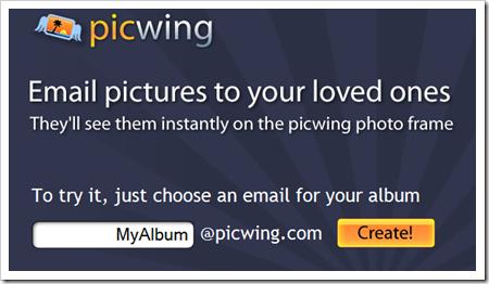 Comparte imágenes con amigos y familiares con PicWing