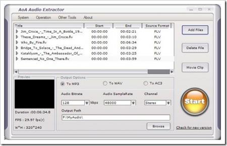 AoA Audio Extractor, aplicación para extraer el audio de archivos de vídeo