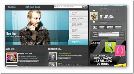 Deezer, un sitio para reproducir música online, y compartirlo en tu blog con quien desees