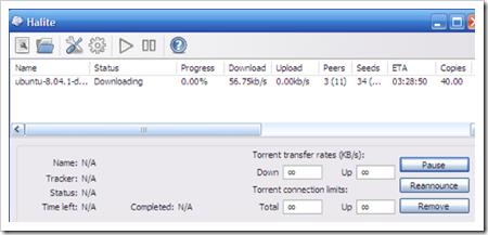 Halite, un cliente BitTorrent que ocupa pocos recursos teniendo el mismo rendimiento que otros