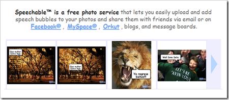 Añade cuadro de diálogo a tus fotografías con Speechable de forma online