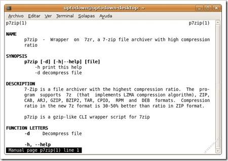 Comprime y descomprime ficheros 7z, con p7zip