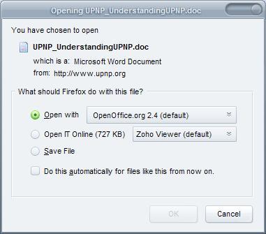 Abre tus documentos directamente de Firefox con Open It Online