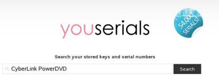 Busca llaves y licencias online con YouSerials