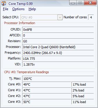 Verifica la temperatura de tu procesador con Core Temp