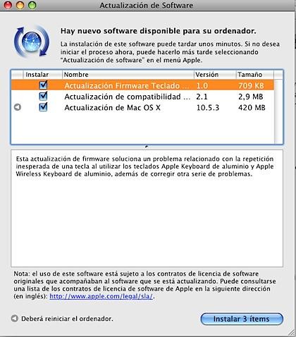 Nueva actualización para Mac OS X, se trata de la versión 10.5.3