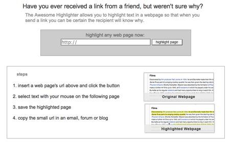 Awesome Highlighter, resalta contenido concreto de una página para compartirla