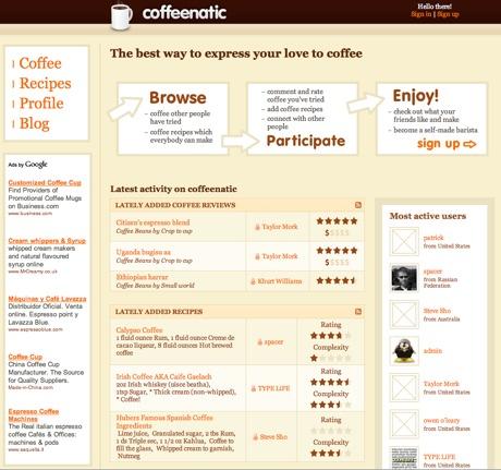 Coffeenatic, red social para amantes del café