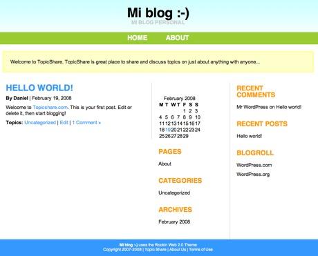 TopicShare, o cómo crear un blog de forma rápida y sencilla