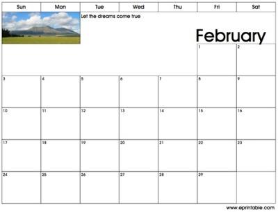 ePrintable, calendarios rápidos y simples para momentos oportunos