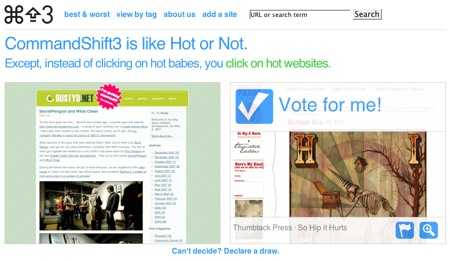 CommandShift3, las votaciones de personas se pasan a las de webs