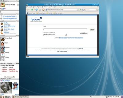 Anticipo de GNOME Online Desktop