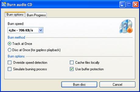 ¿Quién diría que es una aplicación gratuita? CDBurnerXP