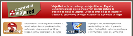 ViajeRed y ViajeBlogs, red especializada en viajes