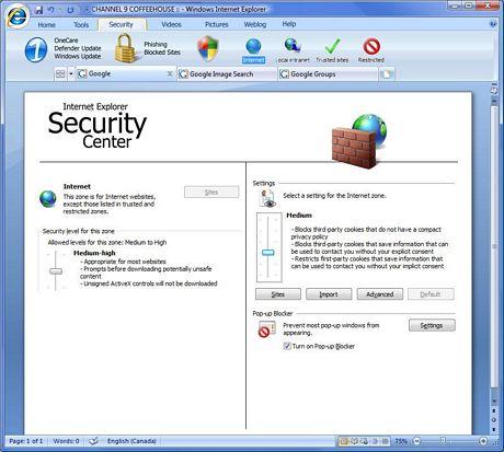 Internet Explorer 8 Alpha, recordando imágenes