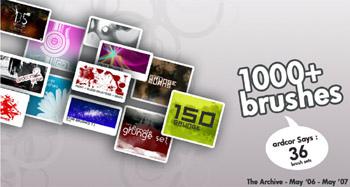 1000 brushes para Photoshop CS, CS2 y CS3
