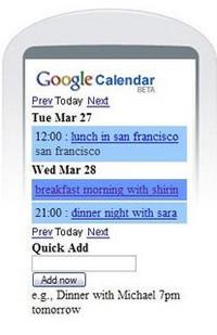 Google Calendar ya disponible para móviles