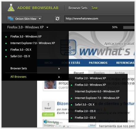 Adobe BrowserLab - Simulando varios navegadores al mismo tiempo