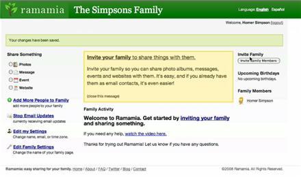 Ramamia - Hecho para que las familias compartan fotos, mensajes y eventos