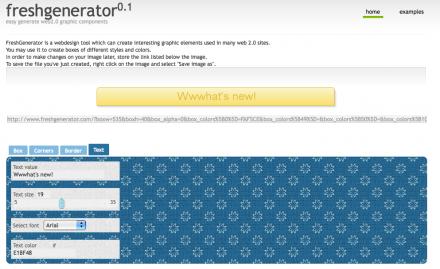 Fresh Generator - Crea imágenes 2.0 para tu web
