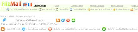 FilzMail - Crear una cuenta de email válida por 24 horas